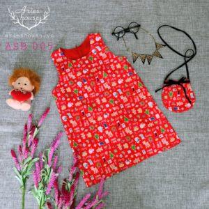 Đầm kate cotton 100% cho bé | ASB 005