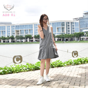 Đầm Suông Gân| ADS 01